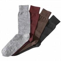 Chaussettes mérinos pieds forts - les 4 paires