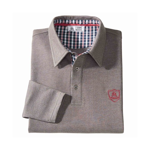 Polo thermique «gentleman» Taupe