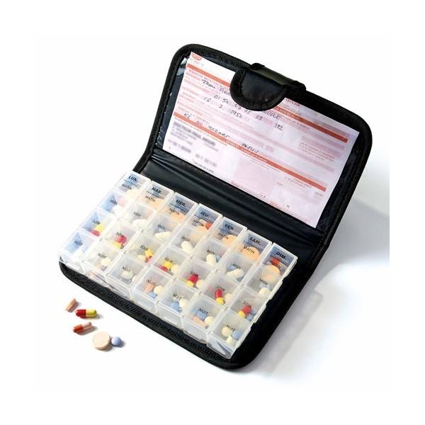 Maxi pilulier en cuir