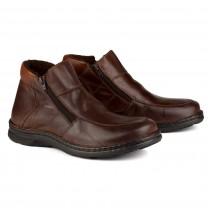 Boots grande largeur Double Zip