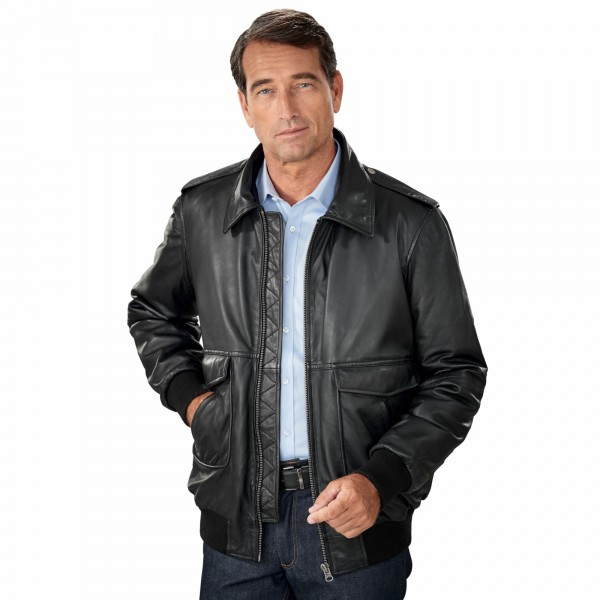 blouson cuir aviateur acheter manteaux vestes l 39 homme moderne. Black Bedroom Furniture Sets. Home Design Ideas