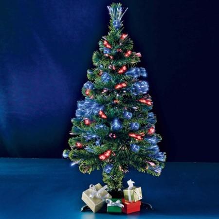 Sapin de Noël fibres optiques