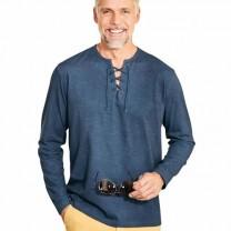 Tee-shirt lacé indigo