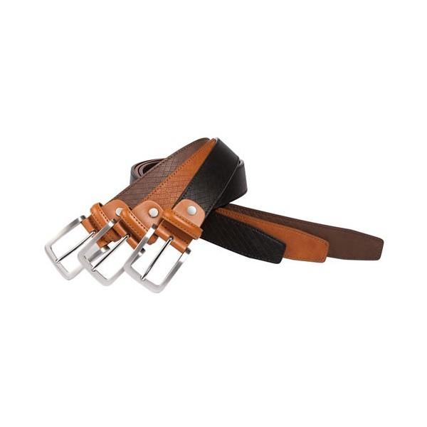Trio de ceintures cuir