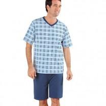 Pyjashort Blue-Dream Haut carreaux