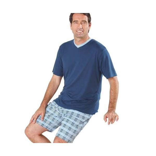 Pyjashort Blue-Dream Haut uni