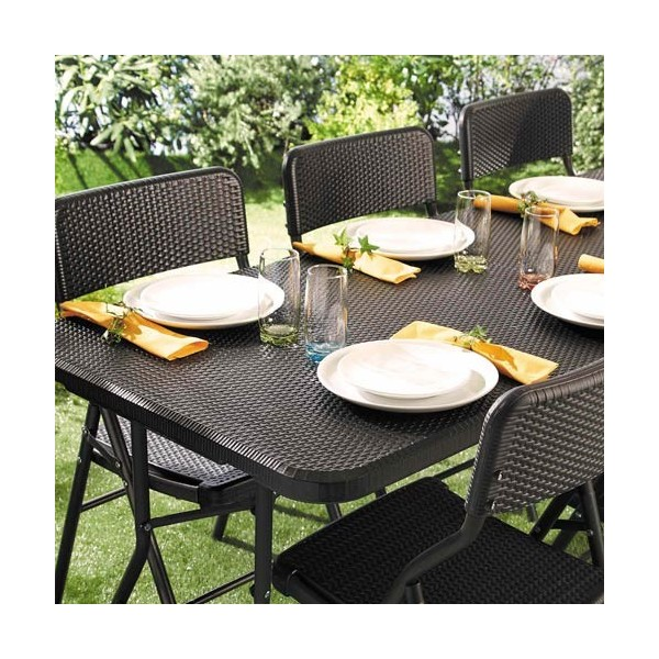 table de jardin rotin acheter d coration mobilier de jardin l 39 homme moderne. Black Bedroom Furniture Sets. Home Design Ideas