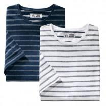 Tee-shirt rayures jacquard - les 2