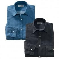 Chemises denim - les 2
