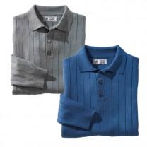 Polos laine mérinos - les 2 (de même taille)