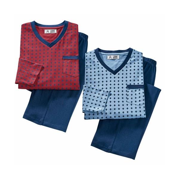 Pyjamas fleurs de lys - les 2 (de même taille)