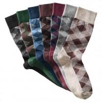 Semainier de chaussettes intarsia