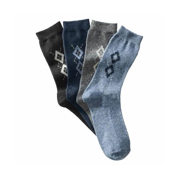 Chaussettes soie & cachemire - les 4 paires