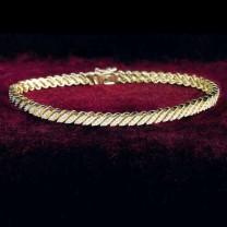 Bracelet farandole de diamants