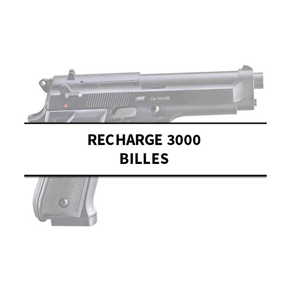 Recharge 3 000 billes