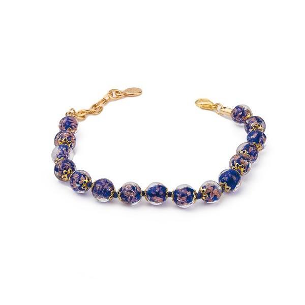 Le bracelet de Murano incrustée d'aventurine