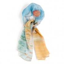 Le foulard impression Soleil Levant