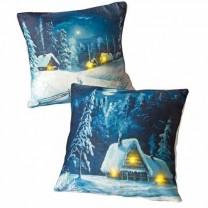 Coussins lumineux «Noël à la neige» - les 2