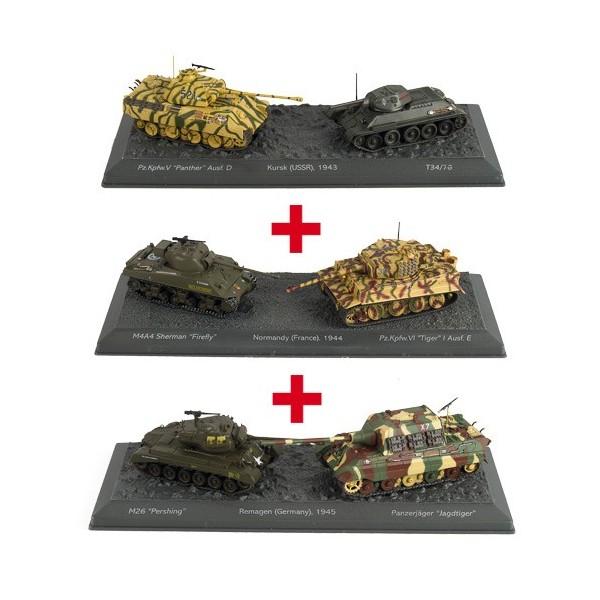 Les trois duos de chars