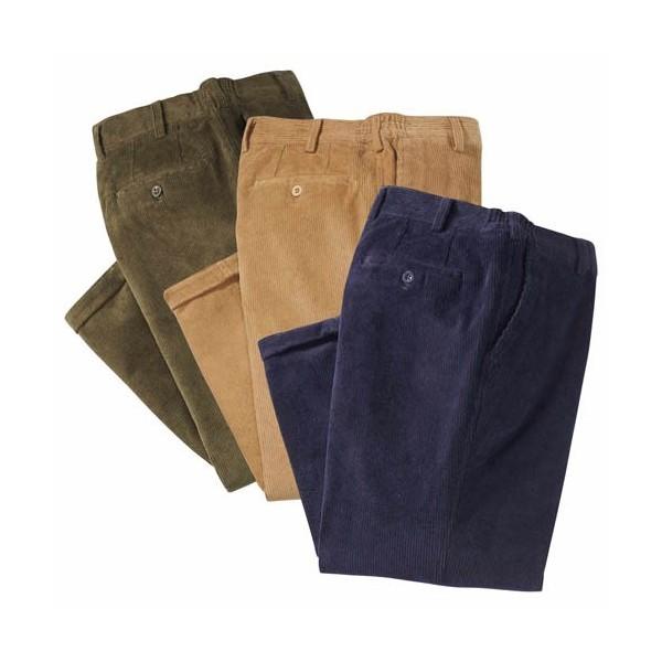 Pantalons velours (de même taille)  - les 3