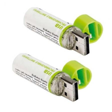"Piles rechargeables ""USB CHARGE"" - les 2"