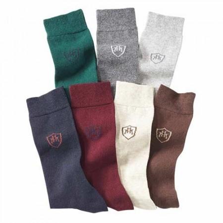 Semainier de chaussettes brodées - les 7 paires
