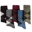 Chaussettes intarsia lambswool - les 5 paires