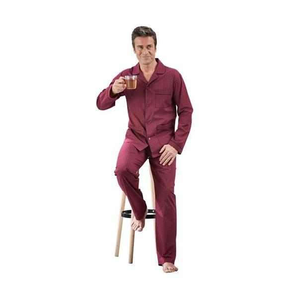 Pyjama Imprimé Bordeaux