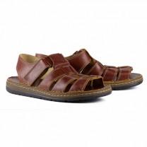 Sandales cuir grande largeur
