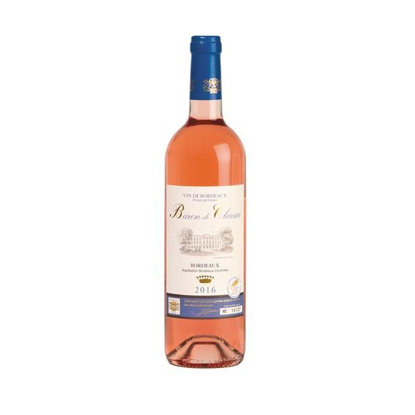 Baron de Clarsac Rosé 2017 - les 12 bouteilles