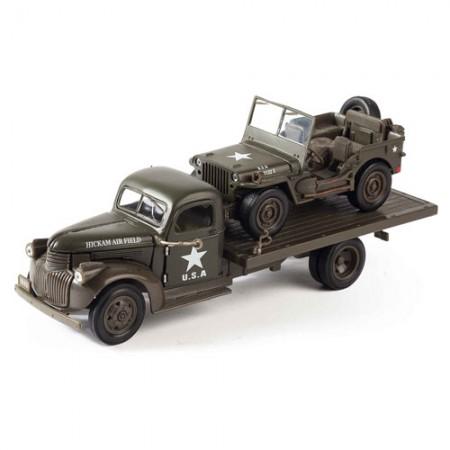 Jeep Willys et son remorqueur