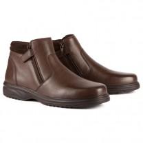 Boots Cuir Grande Largeur