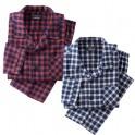 Pyjama Carreaux Flanelle - les 2  (de même taille)