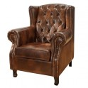 Fauteuil cuir chesterfield