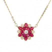 Collier fleur de rubis