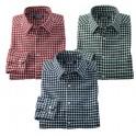 Chemises petits carreaux - les 3