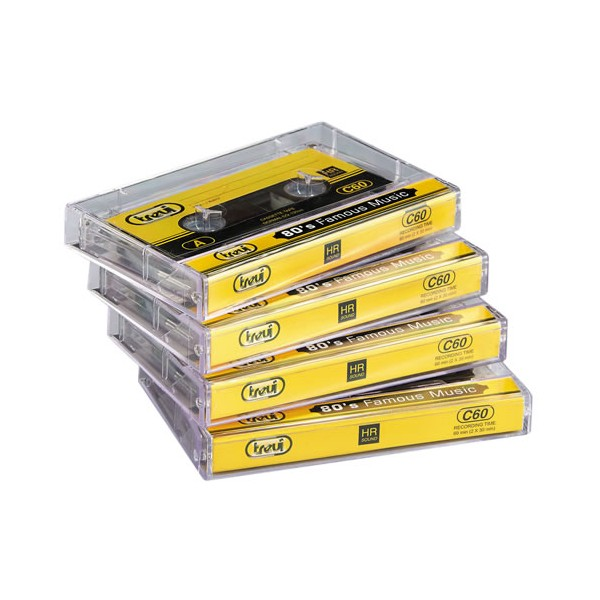 Cassettes audio vierges - les 4