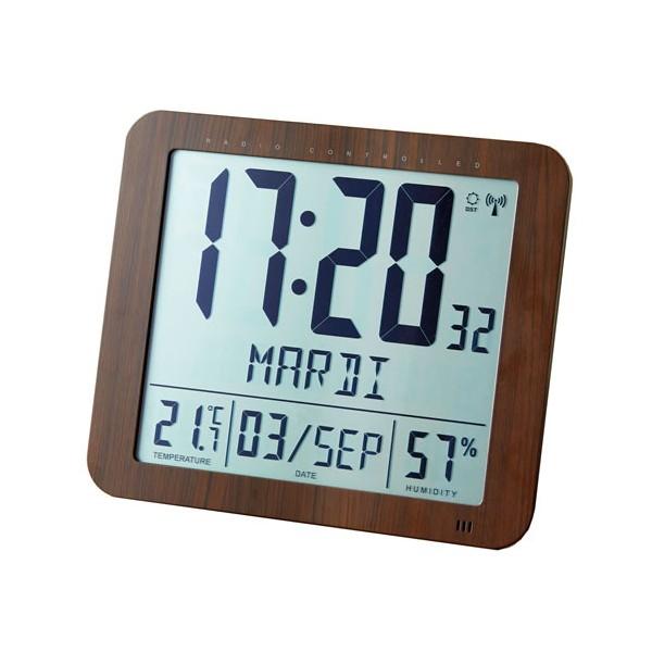 Horloge radio-pilotée haute lisibilité