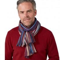 Écharpe rayée laine