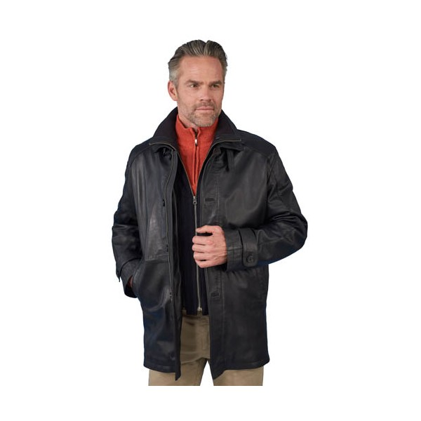 Trench cuir tous temps