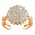 Bague fleur de diamants