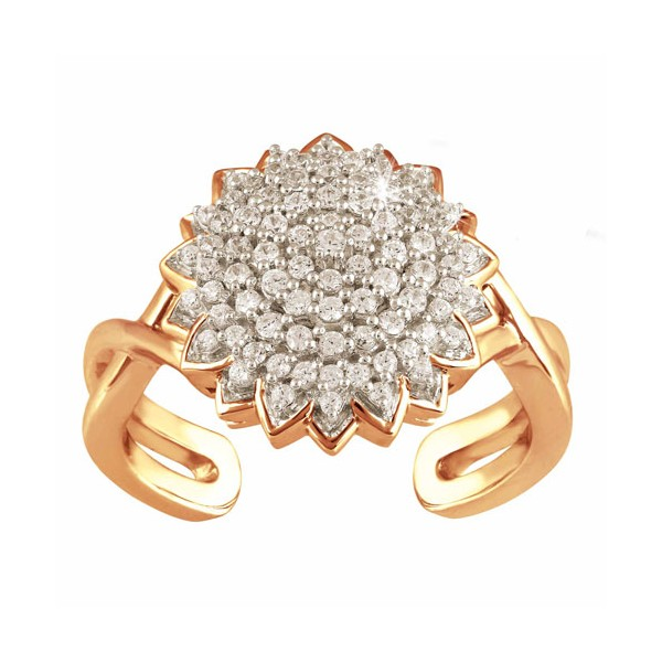 Bague fleur de diamants