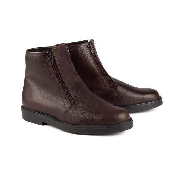 Boots fourrées double zip