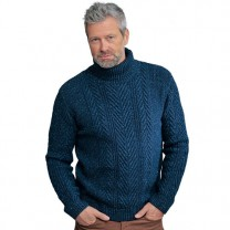 Pull laine & soie