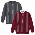 Pulls jacquard laine (de même taille) - les 2