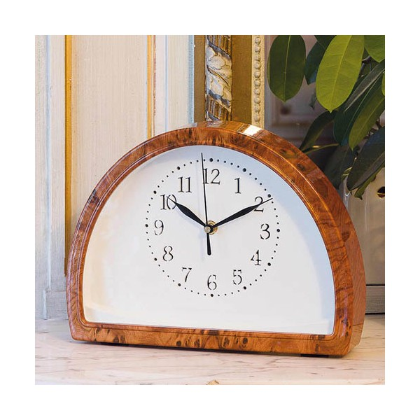 Horloge lumineuse «loupe d'orme»