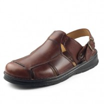 Sabots-sandales cuir
