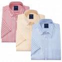 Les 3 chemisettes rayées Summer (de même taille)