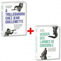 Lot de 2 ouvrages : Expressions cocasses d'antan + expressions animalières