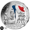 50€ Argent France 2019 colorisée - Drapeau Français